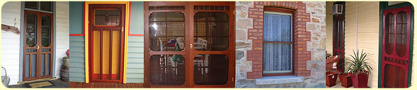 Banner of 5 images of our product range including doors and windows.